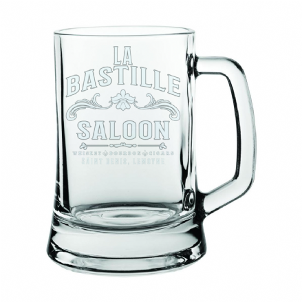 Glass Beer Tankard - La Bastille Saloon Red Dead Redemption 2